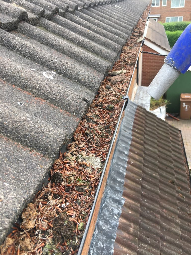 Gutter vacuum for clearing gutters