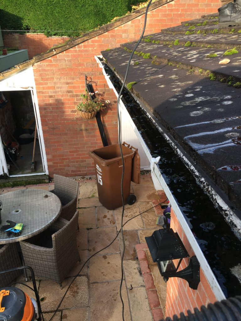Before & After gutter cleaning Pictures Gutter Cleaning : Staffordshire